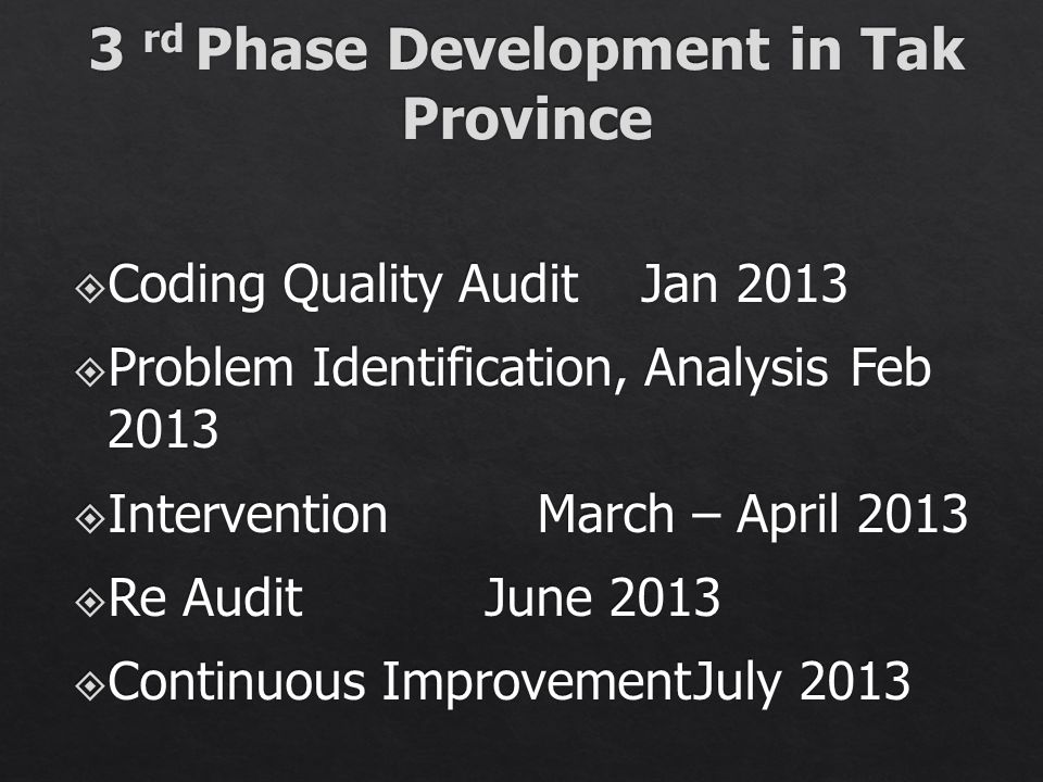 3 rd Phase Development in Tak Province