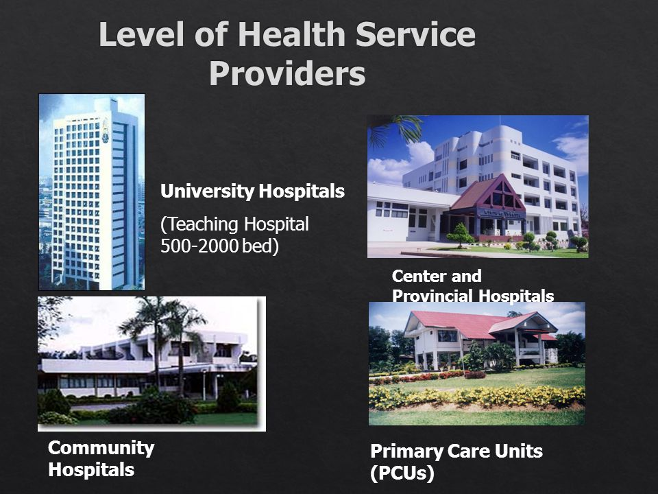 Level of Health Service Providers