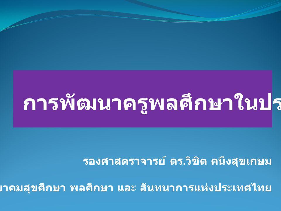 การพัฒนาครูพลศึกษาในประเทศไทย