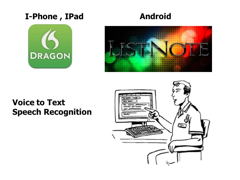 I-Phone , IPad Android Voice to Text Speech Recognition