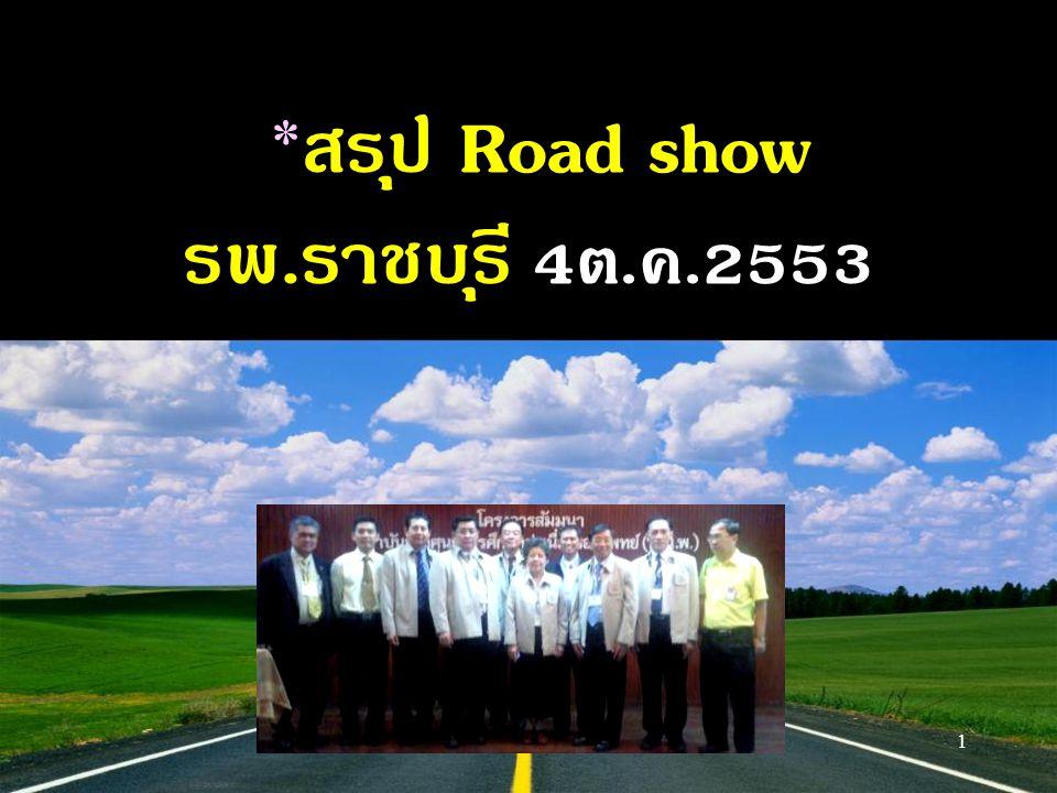 *สรุป Road show รพ.ราชบุรี 4ต.ค.2553 1