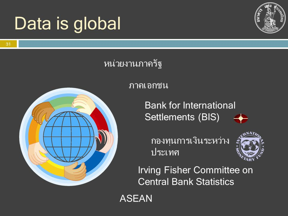 Data is global หน่วยงานภาครัฐ ภาคเอกชน