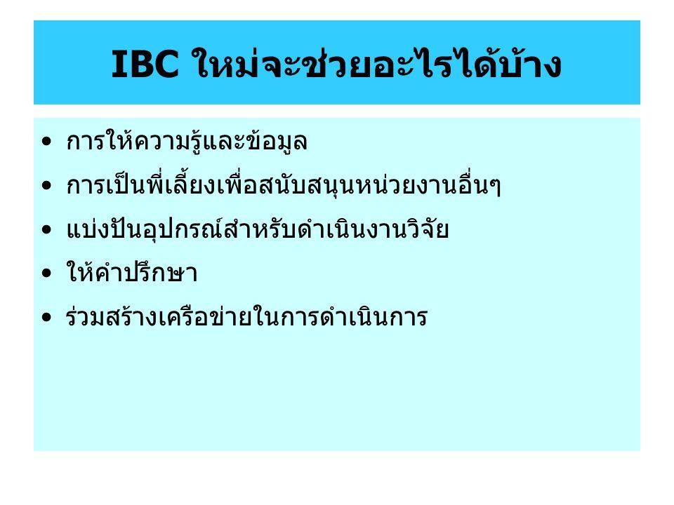 IBC ใหม่จะช่วยอะไรได้บ้าง