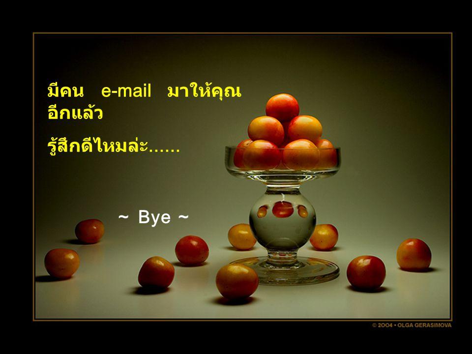 มีคน e-mail มาให้คุณอีกแล้ว