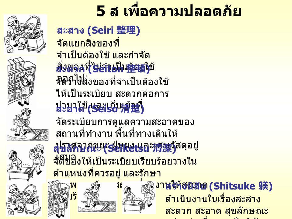 5 ส เพื่อความปลอดภัย สะสาง (Seiri 整理)