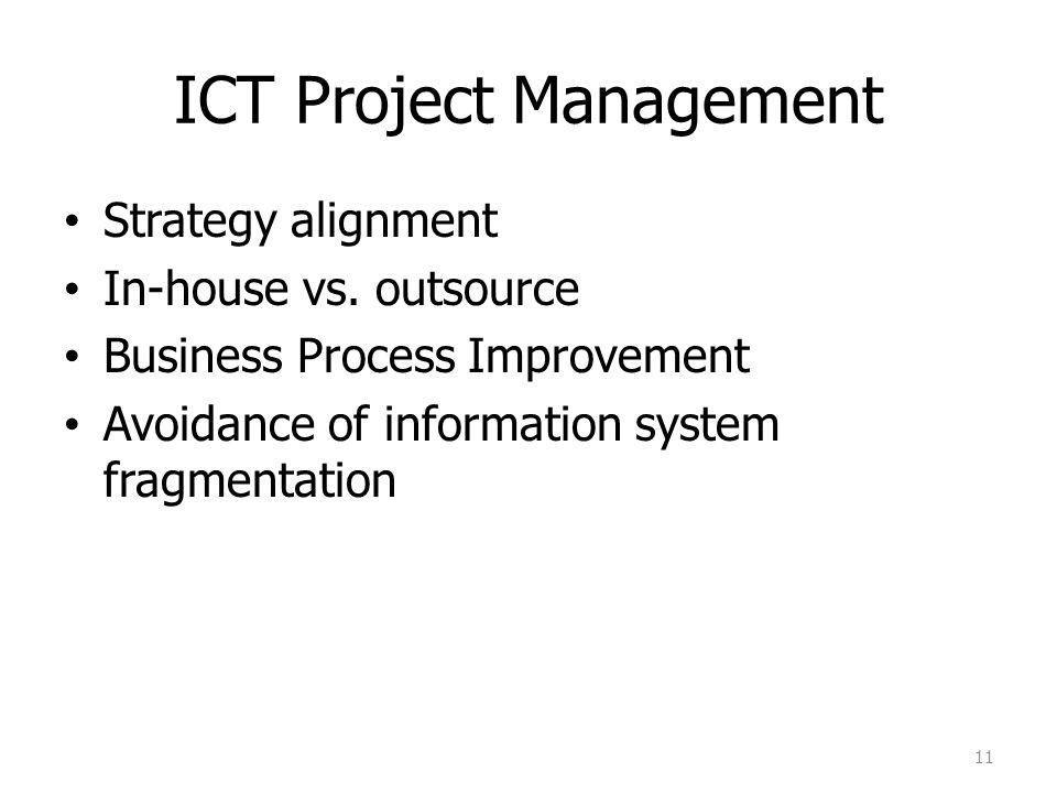 ICT Project Management