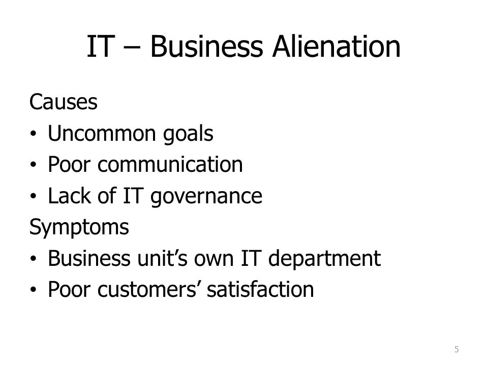 IT – Business Alienation