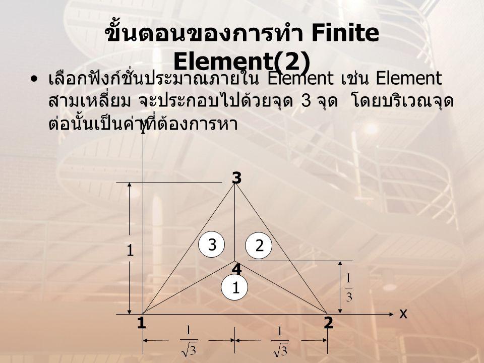 ขั้นตอนของการทำ Finite Element(2)