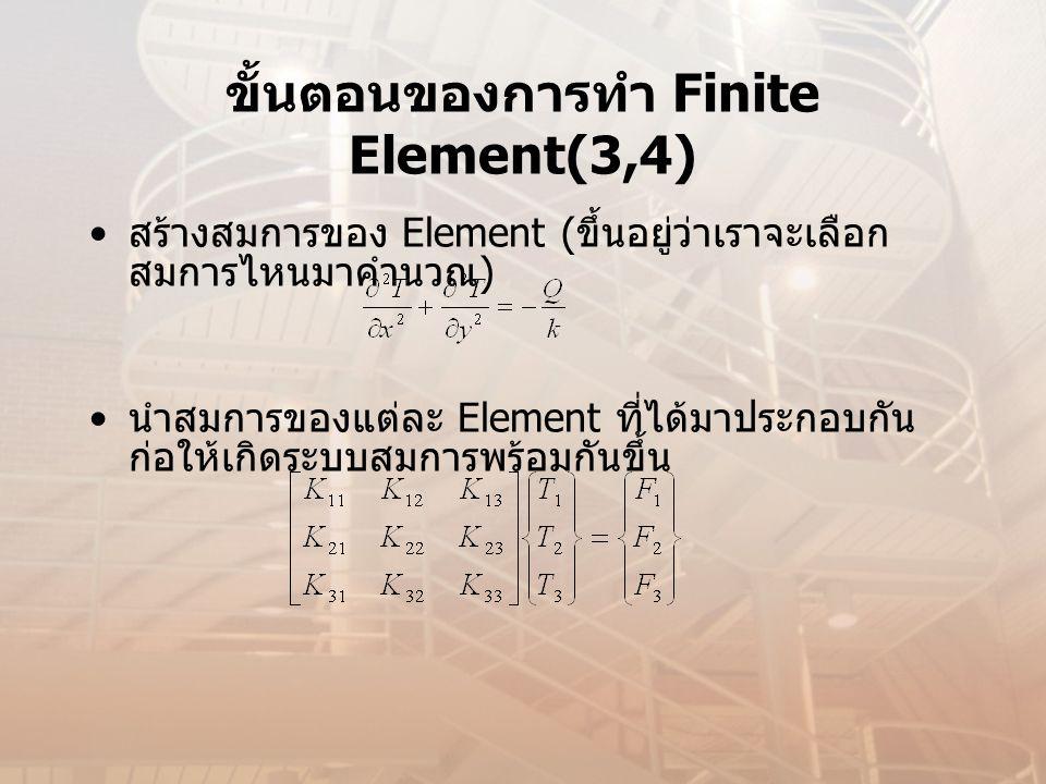 ขั้นตอนของการทำ Finite Element(3,4)