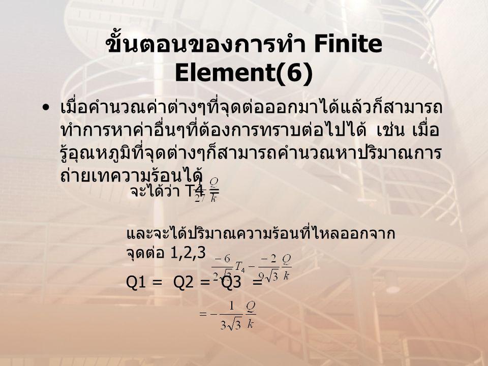 ขั้นตอนของการทำ Finite Element(6)