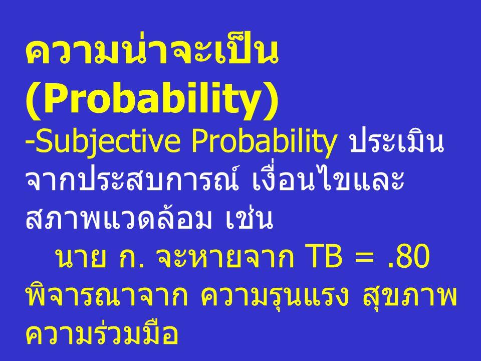 ความน่าจะเป็น (Probability)