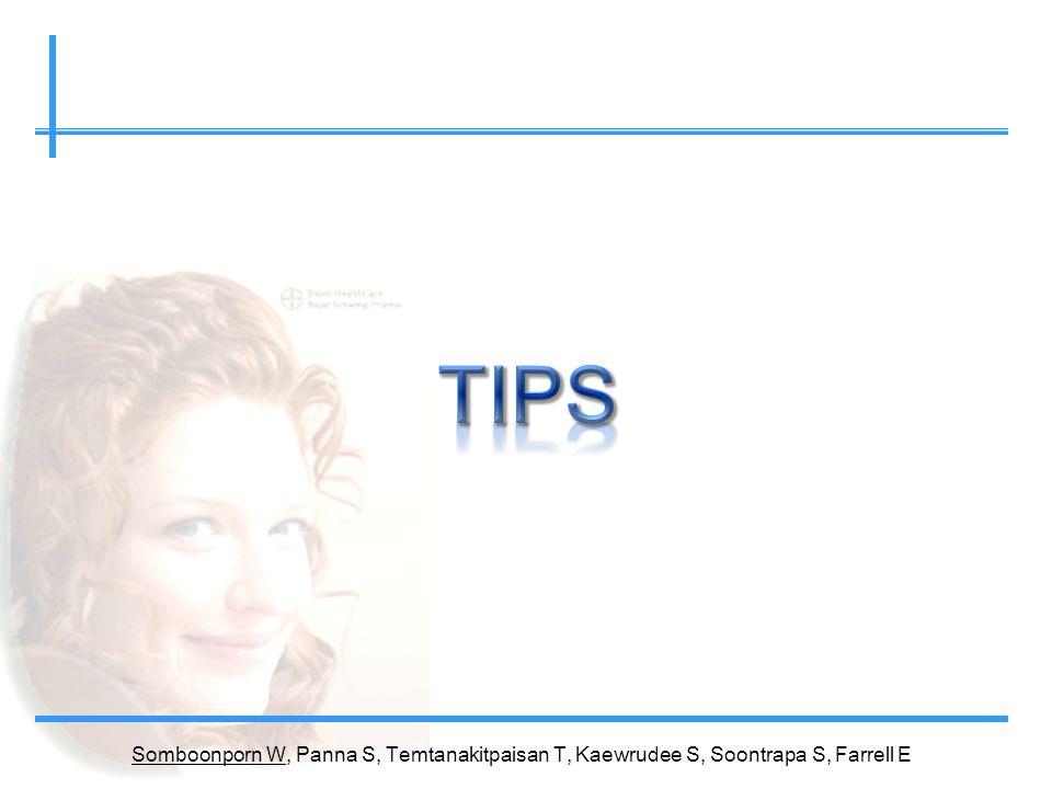 TIPS Somboonporn W, Panna S, Temtanakitpaisan T, Kaewrudee S, Soontrapa S, Farrell E