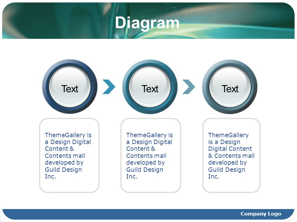 Diagram Text. Text. Text. ThemeGallery is a Design Digital Content & Contents mall developed by Guild Design Inc.