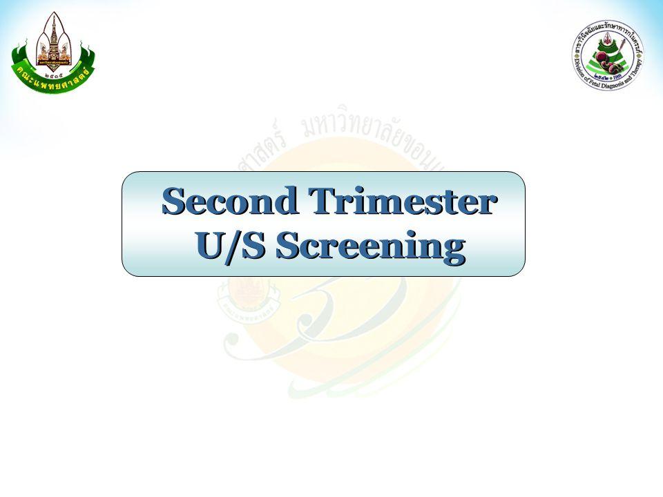 Second Trimester U/S Screening