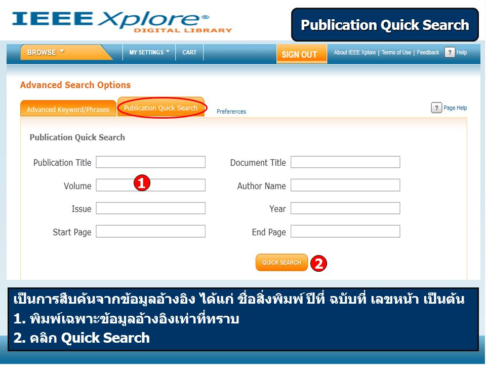 Publication Quick Search