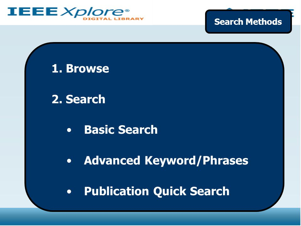 Advanced Keyword/Phrases Publication Quick Search