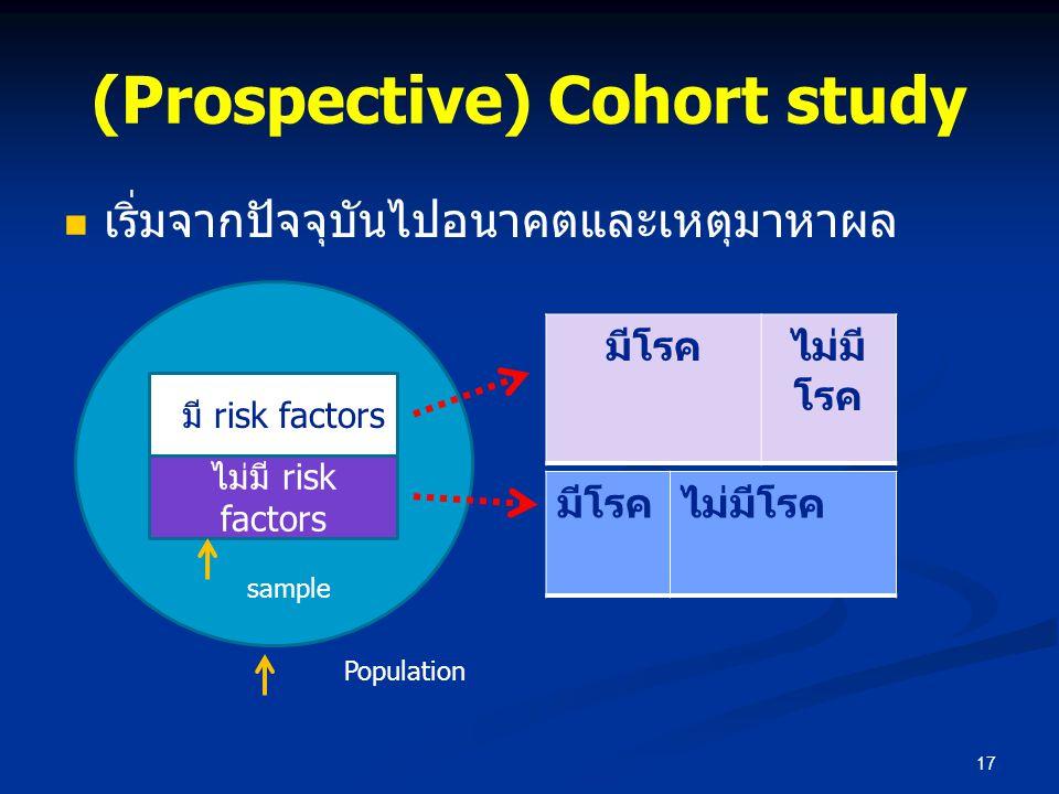 (Prospective) Cohort study
