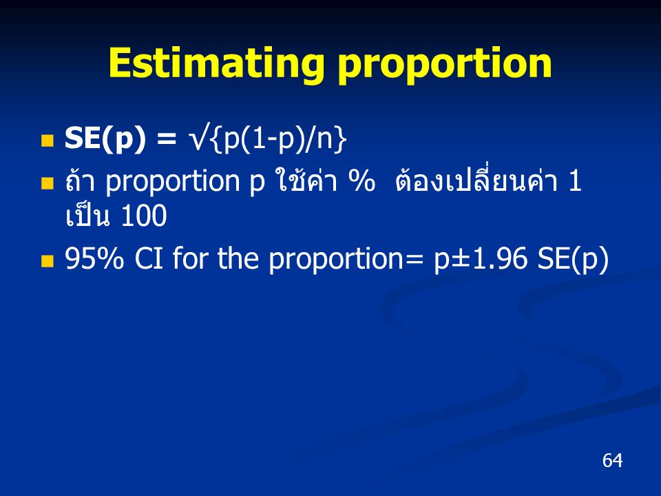 Estimating proportion