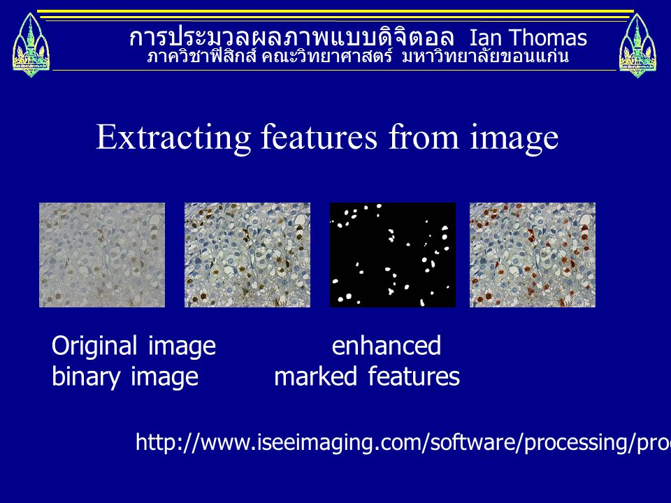 Extracting features from image