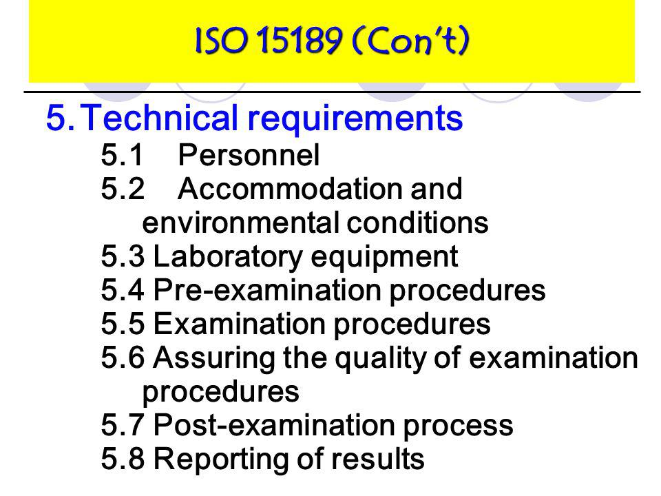 5. Technical requirements