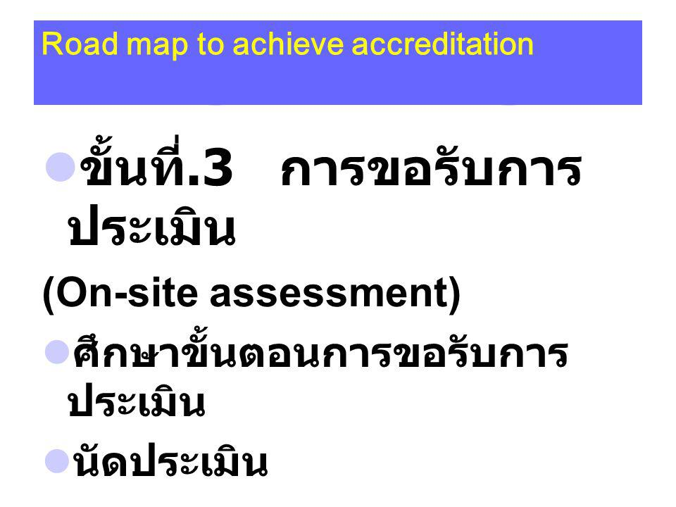 Road map to achieve accreditation