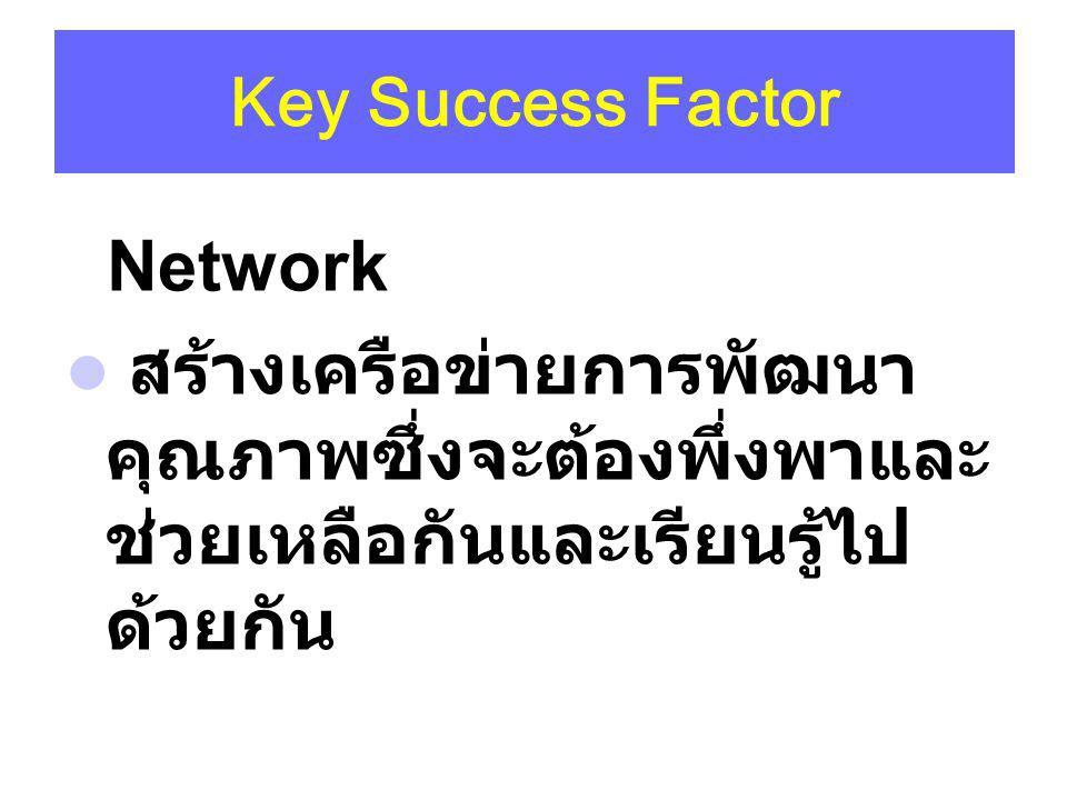 Network Key Success Factor