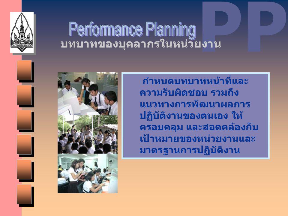 PP Performance Planning บทบาทของบุคลากรในหน่วยงาน