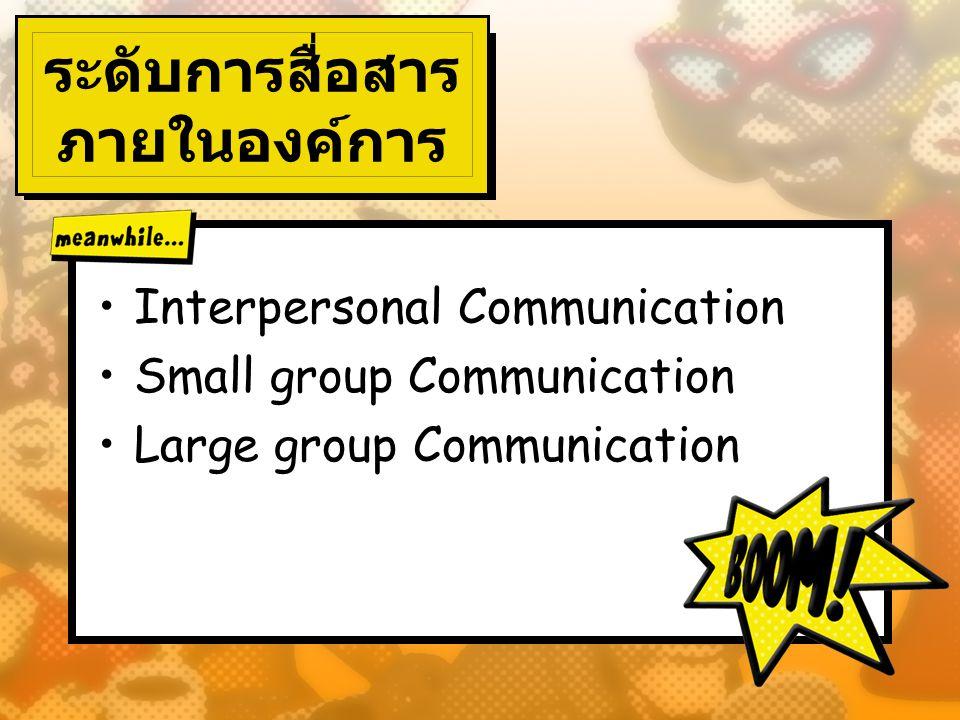 ระดับการสื่อสาร ภายในองค์การ