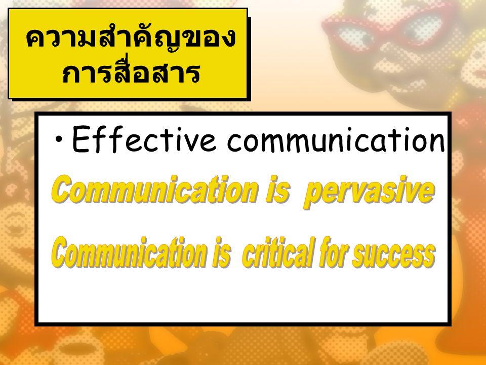 ความสำคัญของการสื่อสาร