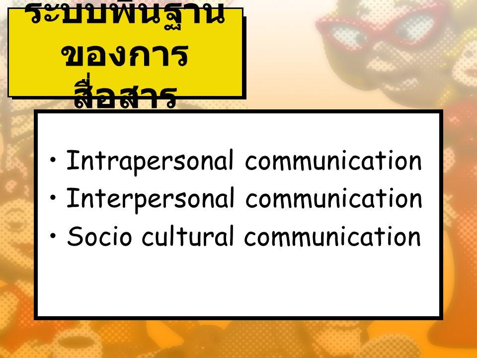 ระบบพื้นฐานของการสื่อสาร
