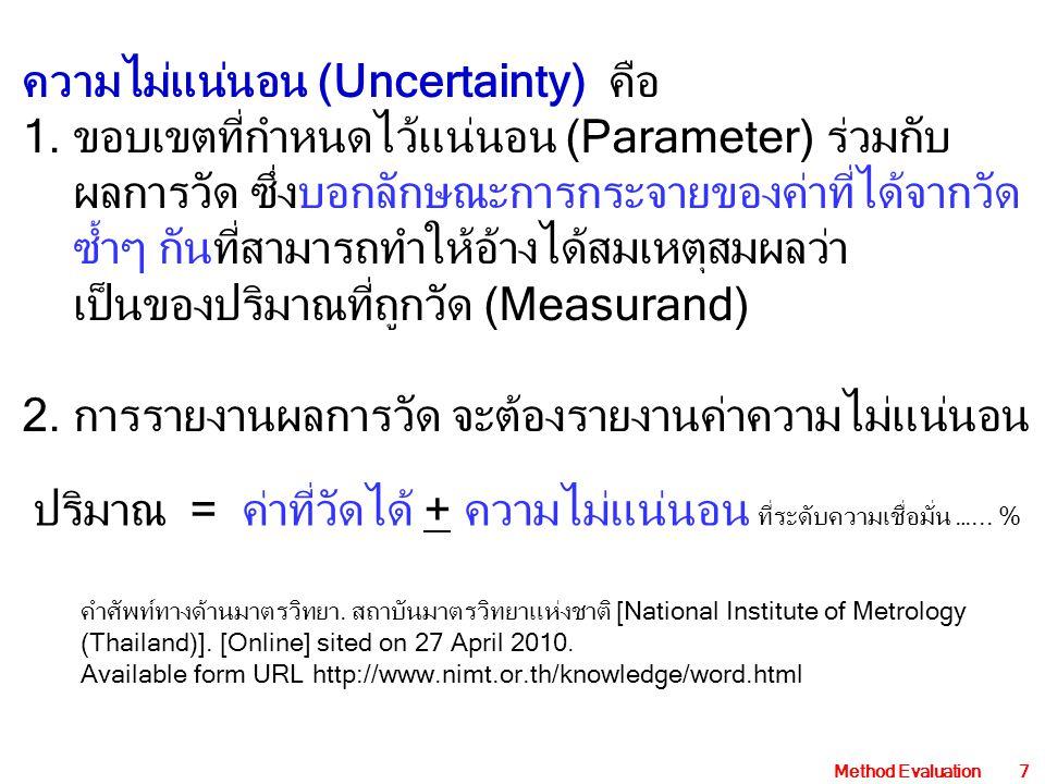 ความไม่แน่นอน (Uncertainty) คือ