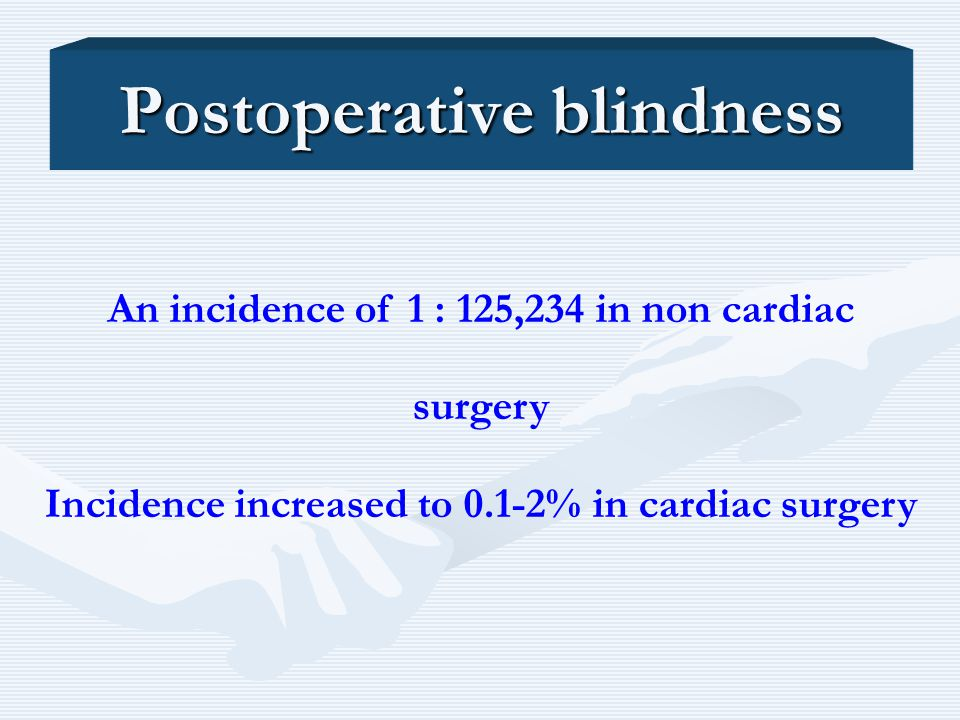 Postoperative blindness