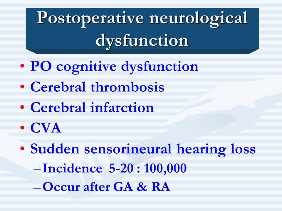 Postoperative neurological dysfunction