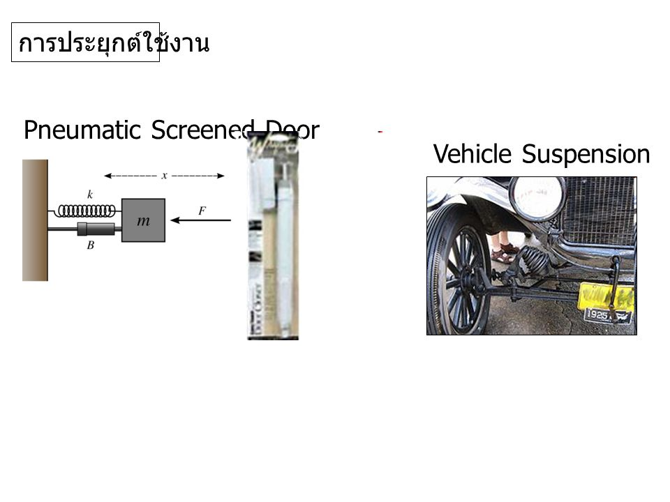 การประยุกต์ใช้งาน Pneumatic Screened Door Vehicle Suspension
