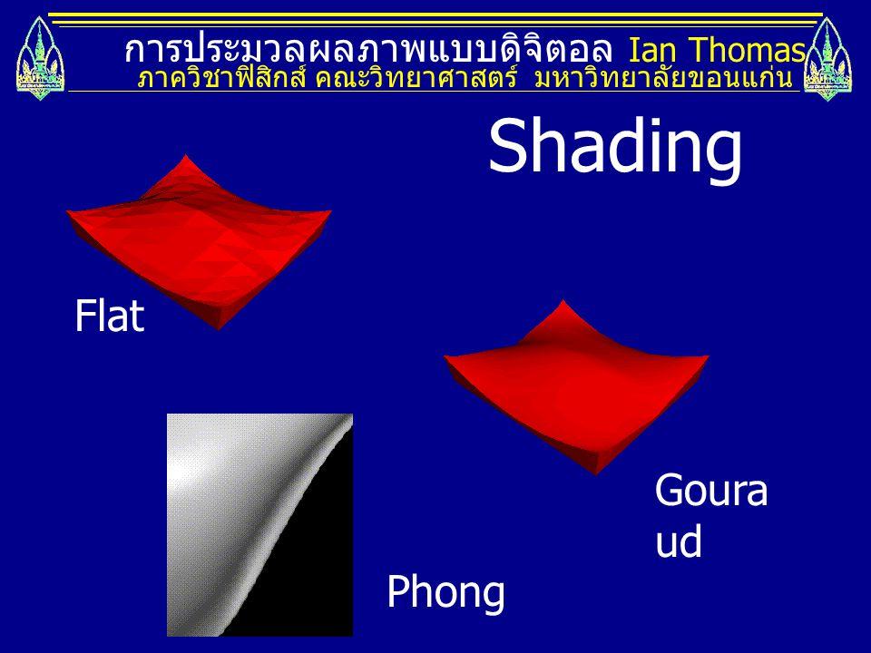 Shading Flat Gouraud Phong การประมวลผลภาพแบบดิจิตอล Ian Thomas