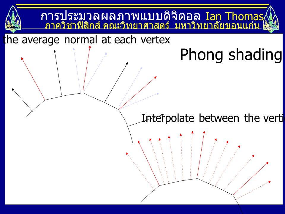 Phong shading การประมวลผลภาพแบบดิจิตอล Ian Thomas