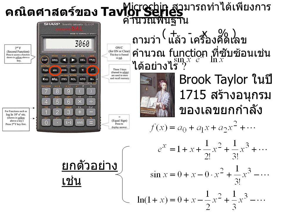 คณิตศาสตร์ของ Taylor Series
