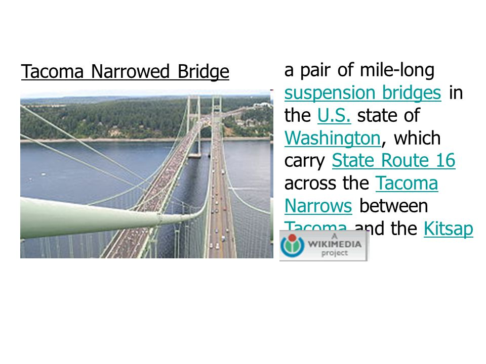 Tacoma Narrowed Bridge