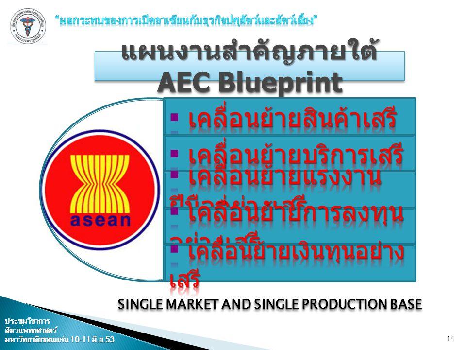 แผนงานสำคัญภายใต้ AEC Blueprint