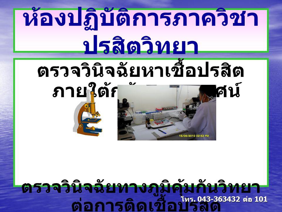 ห้องปฏิบัติการภาควิชาปรสิตวิทยา