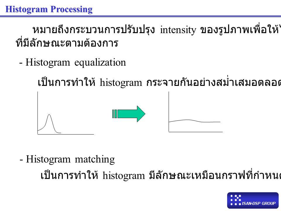 หมายถึงกระบวนการปรับปรุง intensity ของรูปภาพเพื่อให้ได้ histogram