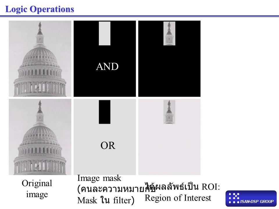 AND OR Logic Operations Image mask Original (คนละความหมายกับ
