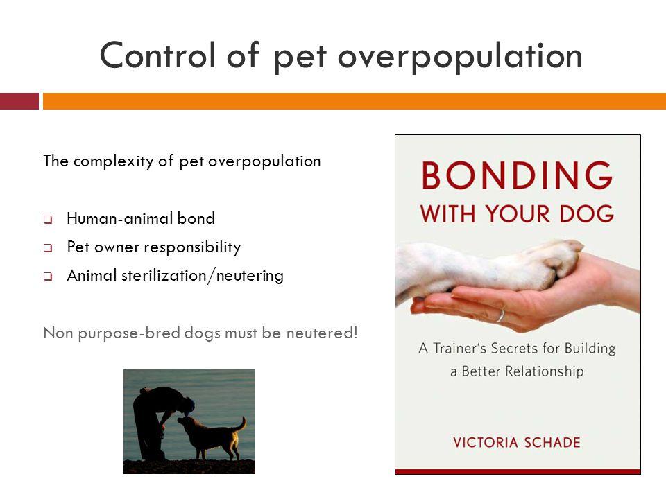 Control of pet overpopulation