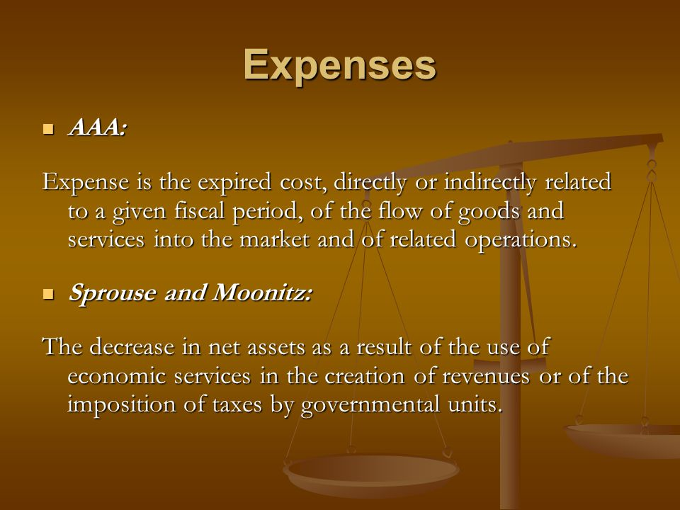 Expenses AAA: