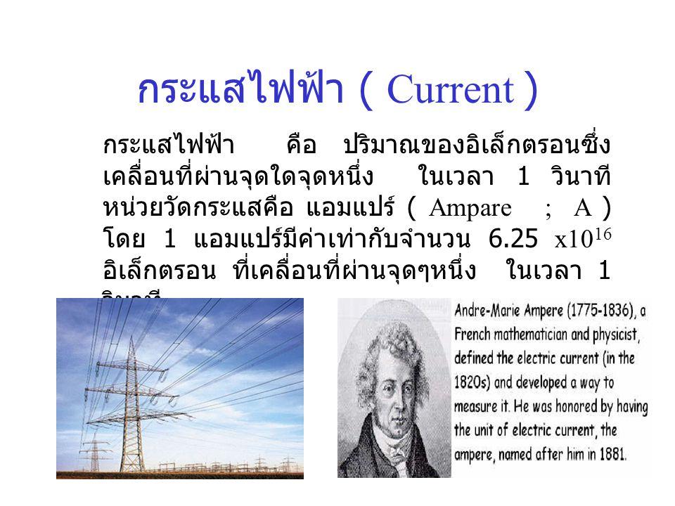 กระแสไฟฟ้า ( Current )