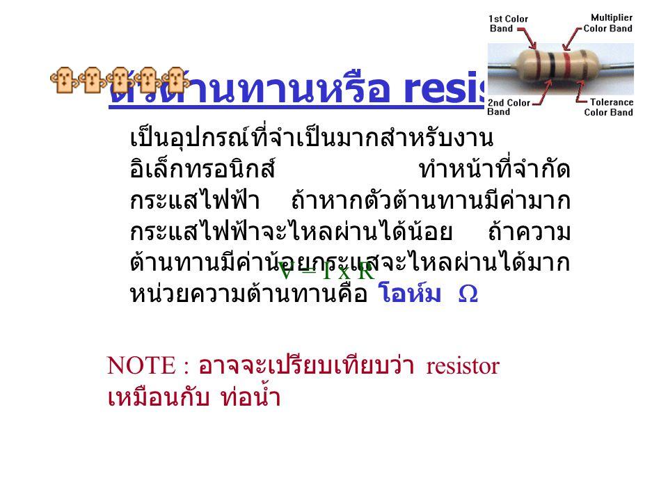 ตัวต้านทานหรือ resistor