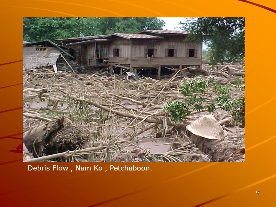 Debris Flow , Nam Ko , Petchaboon.