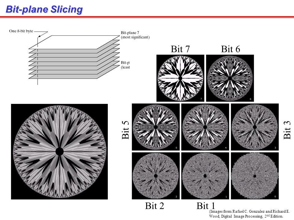 Bit-plane Slicing Bit 7 Bit 6 Bit 5 Bit 3 Bit 2 Bit 1
