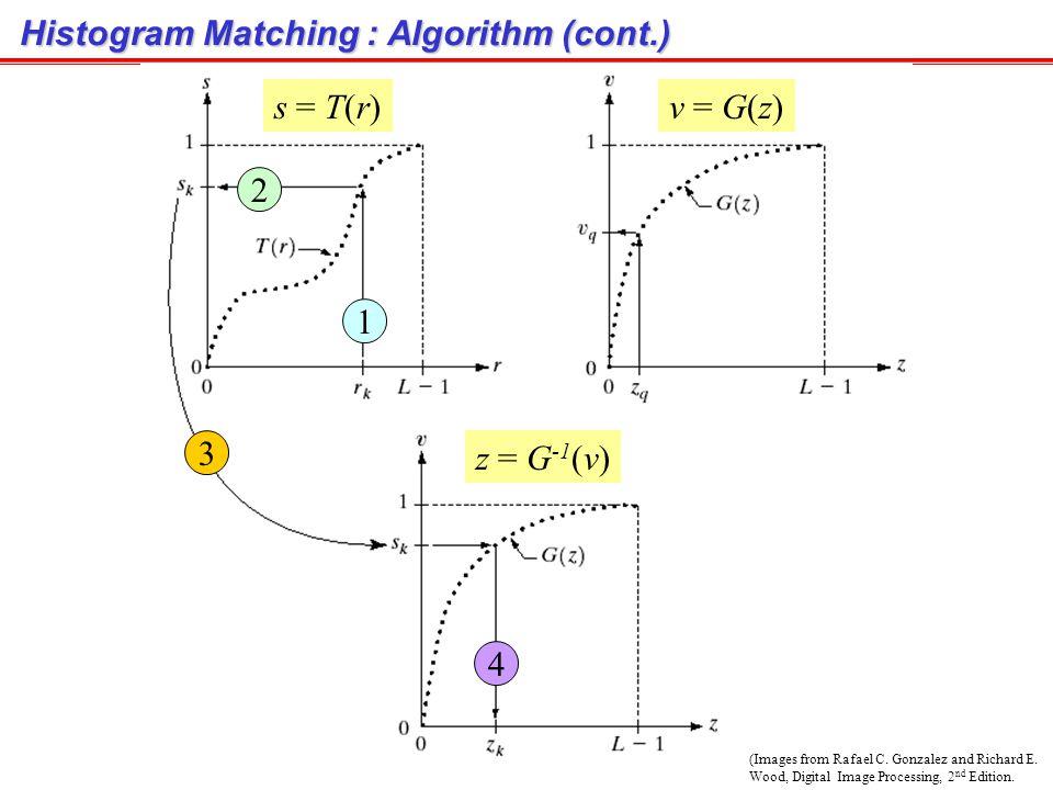Histogram Matching : Algorithm (cont.)