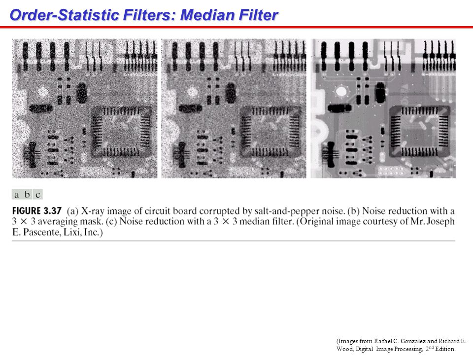 Order-Statistic Filters: Median Filter